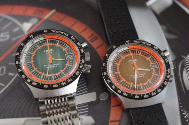 vintage oris chronograph
